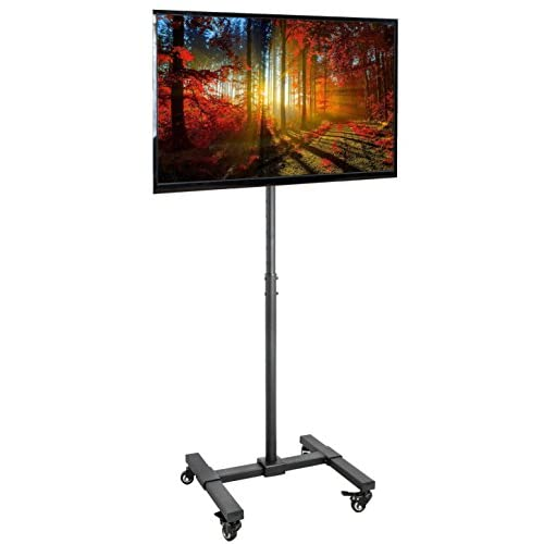 VIVO Mobile TV Display Floor Stand Height Adjustable Mount w/ Wheels for Flat Panel LED LCD Plasma Screen 13