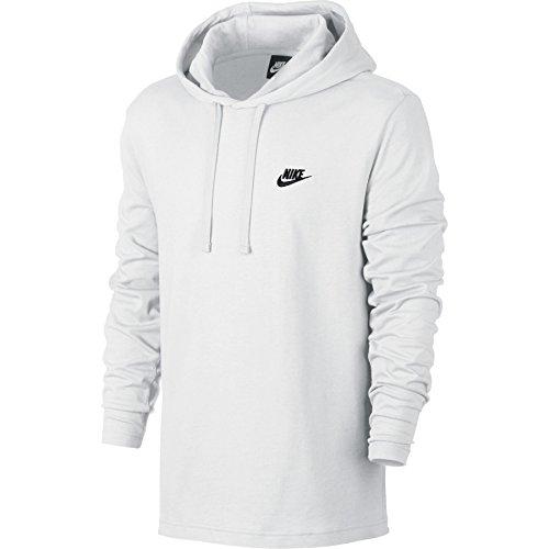 Nike Mens Sportswear Pull Over Hooded Long Sleeve Shirt White/Black 807249-100 Size 2X-Large