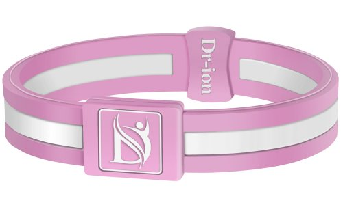 Negative Ion Health Wristband (Pink/White) Negative