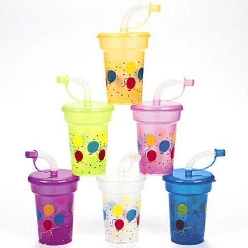 Fun Express Birthday Party Mini Sipper Cups (1 Dozen) by Fun Express