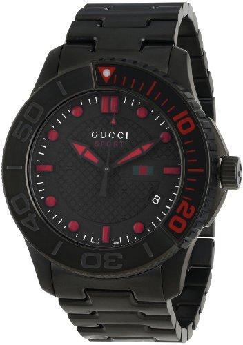 Gucci Men's YA126230 G-Timeless Dive Black IP Steel Bracelet Watch