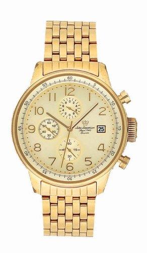 Jules Jurgensen Men's Gold-Tone Chronograph Watch #7837BR - Buy Jules Jurgensen Men's Gold-Tone Chronograph Watch #7837BR - Purchase Jules Jurgensen Men's Gold-Tone Chronograph Watch #7837BR (Jules Jurgensen, Jewelry, Categories, Watches, Men's Watches, Sport Watches)
