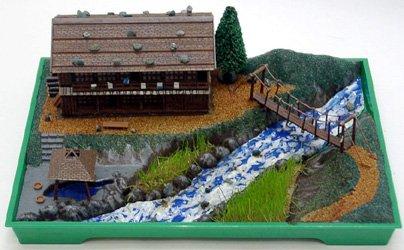 箱庭シリーズ 1/150 山の温泉宿 組立キット