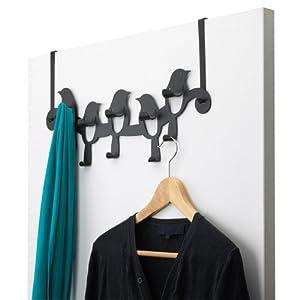 Umbra Birdseye Steel Over-The-Door Multi-Hook, Black