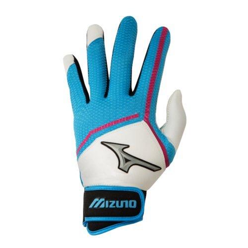 Mizuno Women's 2016 Finch Batting Gloves (Pair), Blue/Pink, Large (Blue Batting Gloves compare prices)