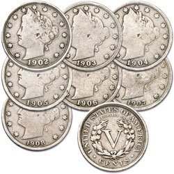 Barber Liberty Head US Nickels