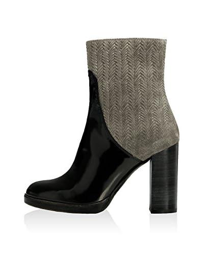 Castañer Zapatos abotinados  Gris / Negro EU 37