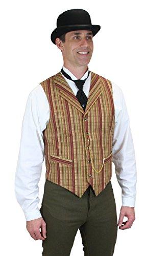 Historical-Emrpoium-Mens-Bailey-Cotton-Striped-Dress-Vest