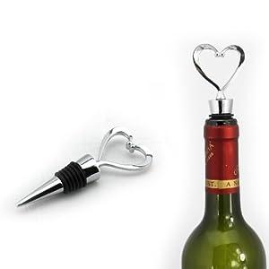 AMC Elegant Red Wine Bottle Stopper, Heart Shaped Design, Wedding Favors