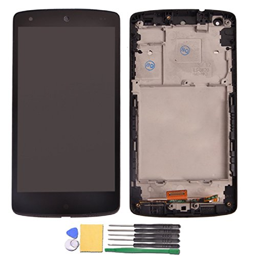 Jingxiguoji™ Novelty Replacement Digitizer And Touch Screen Lcd Assembly With Frame And Tools For Google Nexus 5