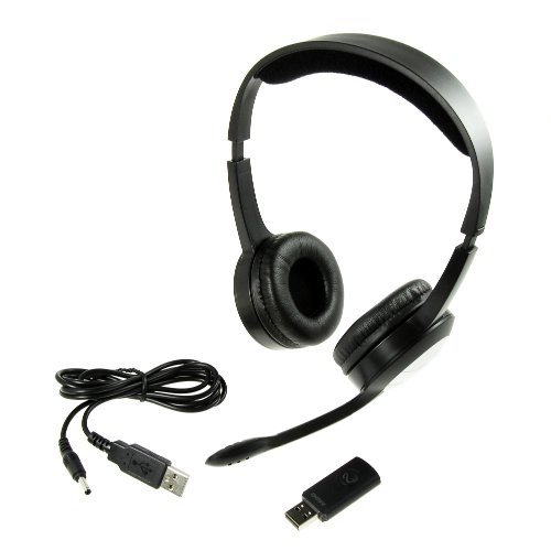 Pc Radio Stereo Headset / 2.4 Ghz Wireless / 10 M Transmission Distance / Headset + Microphone + Wireless-Stick (Macbook Air Macbook Pro Imac Mit Mac Os Lion Leopard/ Pcs Mit Linux Ubuntu/ Windows 7 Xp Pc, Ipad 3 With Our Premium Camera Connection Kit - D