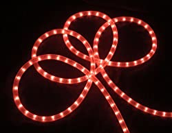 18' Bright Pink Indoor/Outdoor Christmas Rope Lights