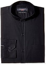 Dennison Men's Formal Shirt (SS-16-385_Black_42)