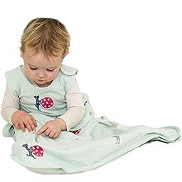Merino Kids Circus Print Cotton Baby Sleep Bag, For Toddlers 2-4 Years, Light Green