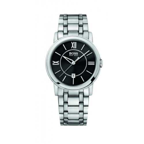 Hugo Boss - 1512388 - Gents Watch - Analogue Quartz - Black Dial - Stainless Steel Silver Strap