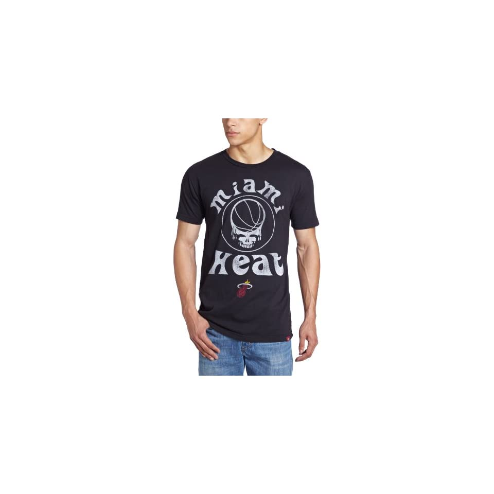 Sportiqe Mens Grateful Dead Miami Heat Skull T Shirt, Black, Small