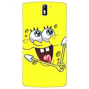 Jugaaduu Spongebob Back Cover Case For OnePlus One
