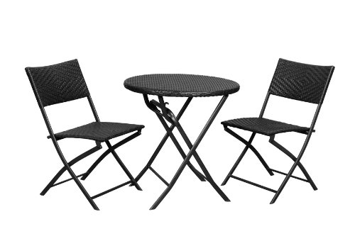 Rst Outdoor Bistro Patio Furniture 3 Piece