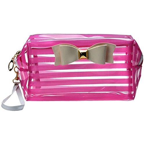CINEEN Trasparente Impermeabile Borsa Cosmetico - Make-up Bag Beauty Case penna astuccio Portamonete Trucco Sacchetto borsa da toilette ragazza