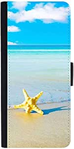 Snoogg Summer Beach Designer Protective Phone Flip Case Cover For Apple Iphone 5 / 5S
