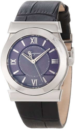 Ferragamo Women's F75SBQ9909 SB09 Vega Grey Mother-of-Pearl Dial Sapphire Crystal Watch