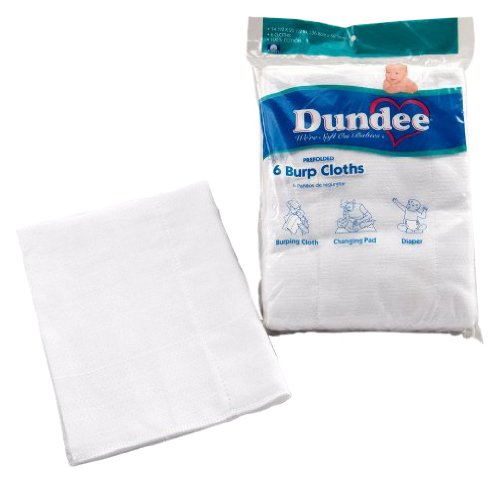 Dundee Burp Cloths - White