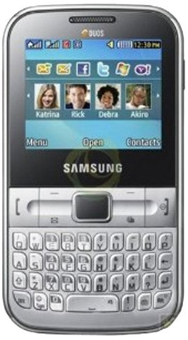Samsung C3222 Chat Dual SIM Unlocked GSM Phone with Qwerty Keypad, 1.3 MP Camera, FM Radio and Bluetooth, Unlocked Phone, No Warranty (White)