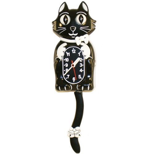 Animated Cat Wall Clock With Moving Eyes and Wagging Tail