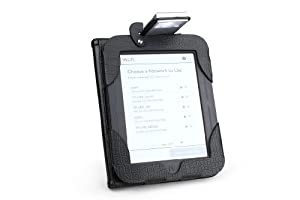 "Nook Simple Touch Lighted Leather Cover Case with Built In Light by Zing, Black (Fits Nook 2 with 6"" Screen)"
