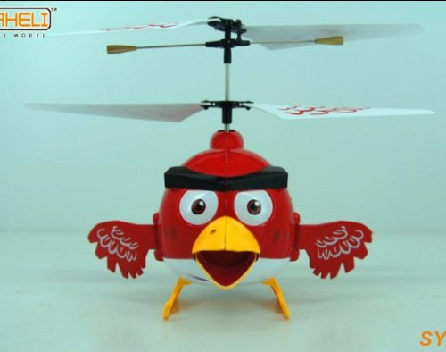 Newest Happy Bird 3 Channel Remote Controlled RC Helicopter Flying Toy With Gyro (Not Angry Birds)