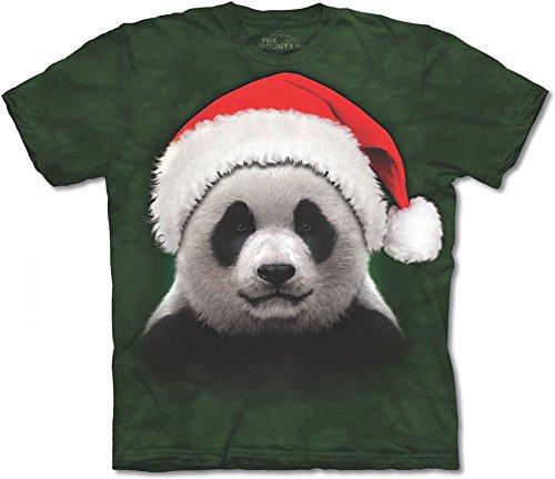 Santa Panda Adult Small Christmas T Shirt The Mountain
