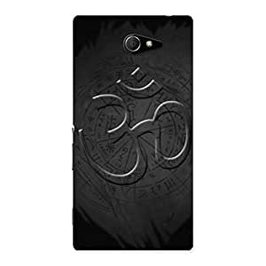 Gorgeous Om Grey Back Case Cover for Sony Xperia M2