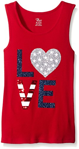 The Children's Place Big Girls Tank Top, Classic Red, Medium/7/8