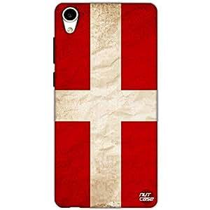 Designer HTC 826 Case Cover Nutcase -Denmark Vintage Distressed Flag