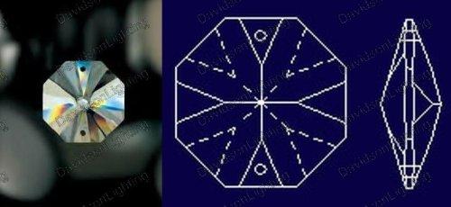 10 of 14mm Octagon Swarovski Crystal Suncatcher Prism