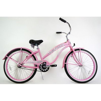 Women's Single Speed Beach Cruiser Frame Color: Pink