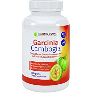 Pure Garcinia Cambogia Extract with 65% HCA & 1500+ Mg As Seen on Dr Oz, USA Made & Clinically Proven* - Safe & Effective Appetite Suppressant, 90 Caps - Guaranteed By Nature Bound
