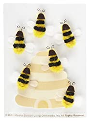 Martha Stewart Crafts Dimensional Bee Stickers