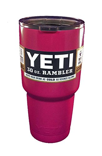 Yeti Rambler, Stainless Steel, Powder-Coated, Custom Colors-Hot Pink,  30 oz.