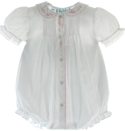 Infant Girls White Dressy Bubble With Collar Feltman Brothers (3M) front-338703