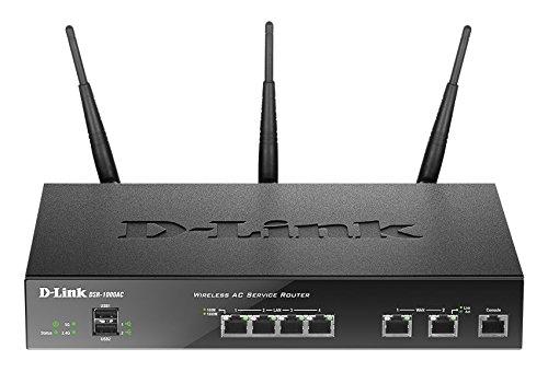 D-Link DSR-1000AC Routeur VPN Unifié Services sans fil AC Noir