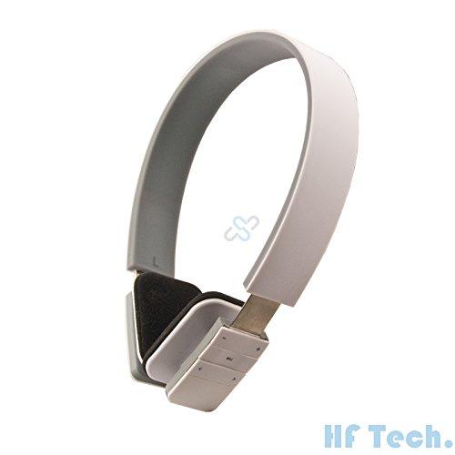 HFTEK Bluetooth stereo Headset Handy Kopfhörer für iPhone, iPad, Samsung, alle Handys, PC, Notebook, Voip, Skype LC-8200 (Weiß)