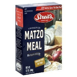STREITS MATZO MEAL UNSALTED 12 OUNCE BOX