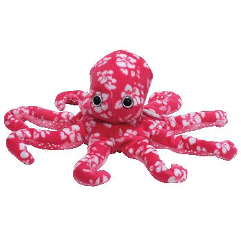 TY Beanie Baby - SURFIN' the Pink Octopus (BBOM June 2007) - 1