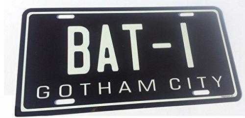 "Batmobile Replica *EMBOSSED / STAMPED* License Plate. *All Aluminum* 6"" X 12"""
