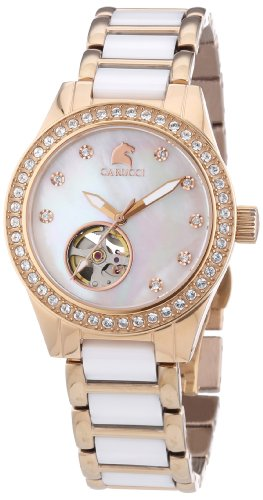 Carucci Watches Women's Automatic Watch Enna II CA2206RG-WH with Metal Strap