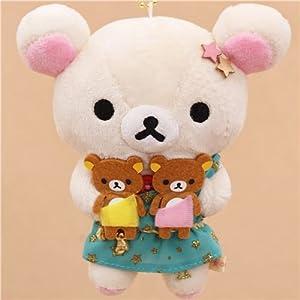 zodiac sign Rilakkuma white teddy bear as Gemini plush toy charm by San-X