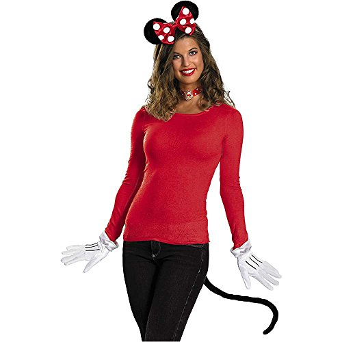 Red Minnie Mouse Adult Costume Kit - One Size