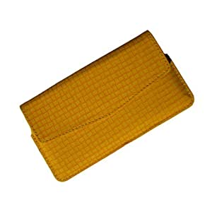 i-KitPit : PU Leather Pouch Case Cover For Lava Xolo A500 Club (YELLOW)