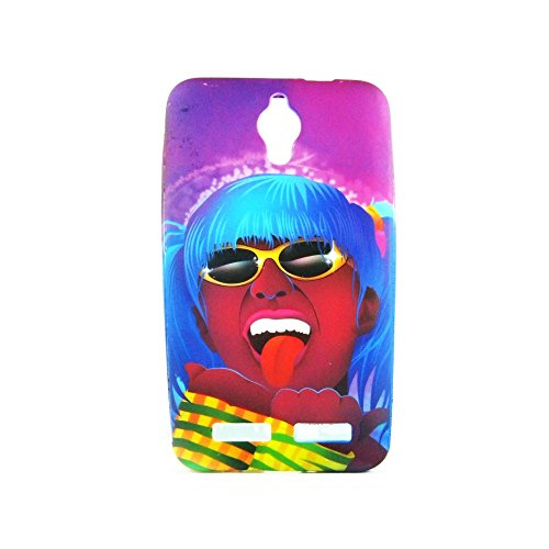 AVC Graphik Blue Hair Girl Soft TPU Back Case Cover for Asus Zenfone C ZC451CG Mobile Cell Phone (Multicolor)  available at amazon for Rs.198